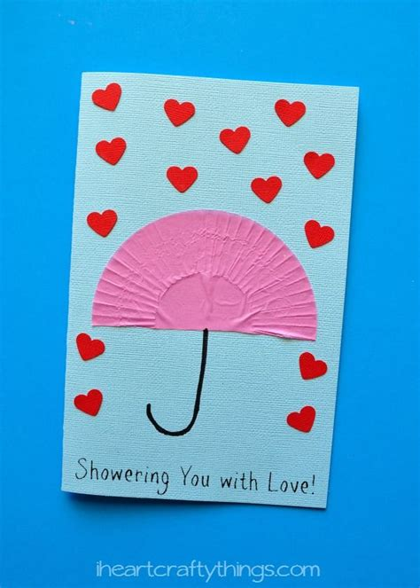 card ideas for preschoolers quot showering you with quot s day card craft cards