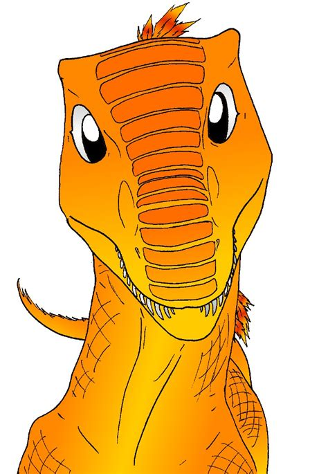 Orange Dino orange dinosaur by amayensis on deviantart