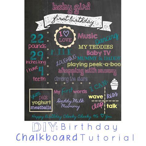 diy chalkboard birthday diy birthday chalkboard tutorial eat live