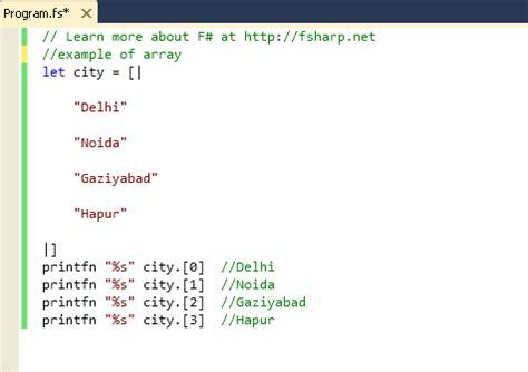 tutorial c array concept of arrays in f