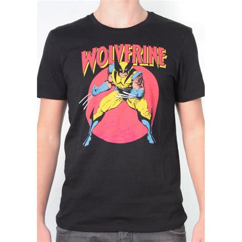 Tshirt Xmen 2 mens marvel wolverine attack t shirt black
