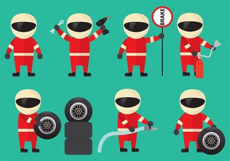 pit stop pit stop staff vectors free vector stock