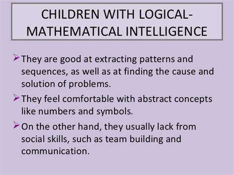Mathematical Intelligence logical mathematical intelligence