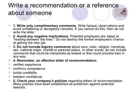 Recommendation Letter Knowing Someone Writing A Reference Letter
