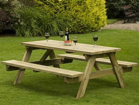wooden garden benches with table atholl chunky 8 quot a quot frame picnic table