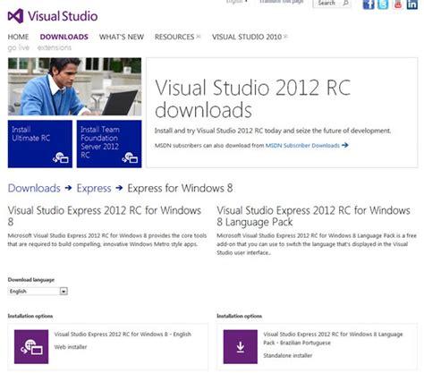 website tutorial visual studio 2012 download the visual studio 2012 release candidate