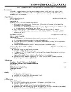 resume format for sports person 2 801 sports resume exles sles livecareer