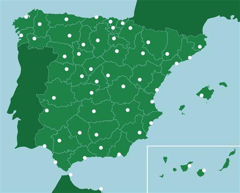 map of spain provinces spain provinces capitals map quiz