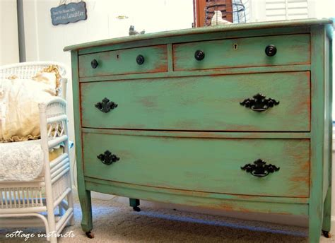 How To Paint A Dresser by Cottage Instincts How I Paint And Distress A Dresser In