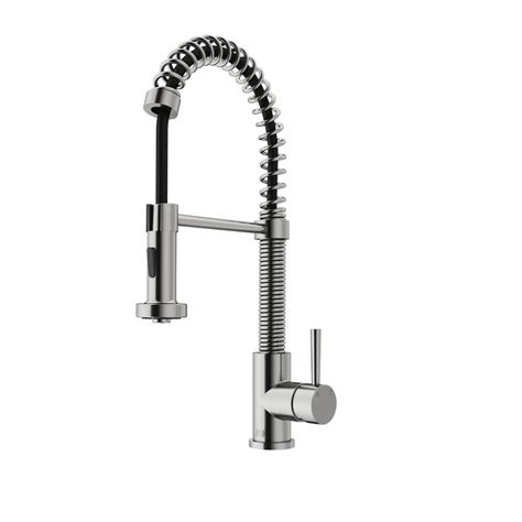 Vigo Kitchen Faucet Vigo Single Handle Pull Out Sprayer Kitchen Faucet In Stainless Steel Vg02001st The Home Depot
