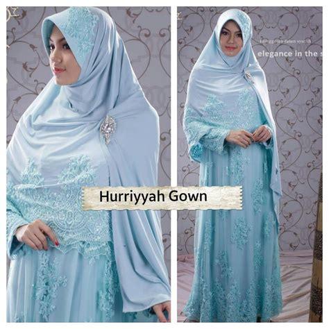 Gown Baju Anak gaun spesial pernikahan muslimah huriyyah wedding gown