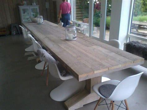 steigerhouten tafel 4 meter design tafel van steigerhout de tafel is bijna 5 meter