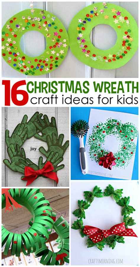 hands on crafts for christmas in the morning wreath craft ideas for crafty morning