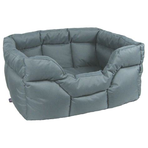 grey dog bed buy p l country dog h duty rectangular waterproof softee