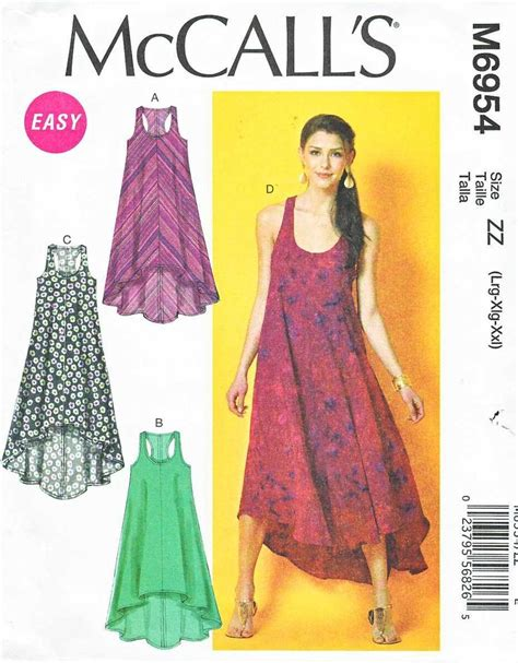 sewing pattern summer dress mccalls sewing pattern 6954 misses size 16 26 easy