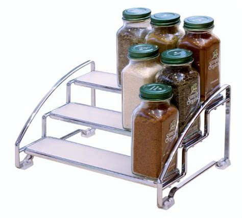 spice rack organizer shelf 3 tier kitchen storage cabinet