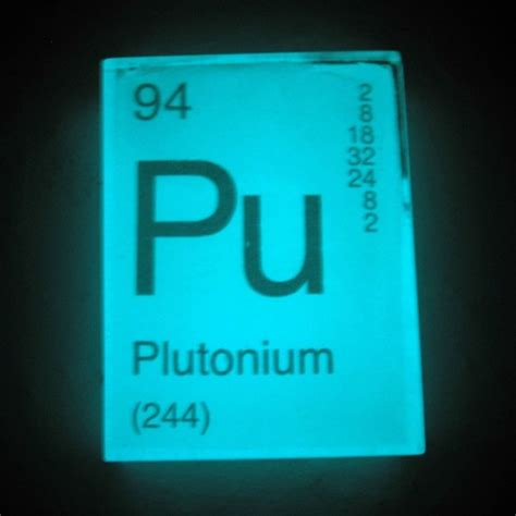 Pu Periodic Table in your element periodic table soap plutonium glows in