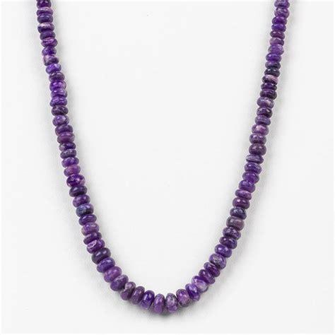 sugilite rondelle bead necklace