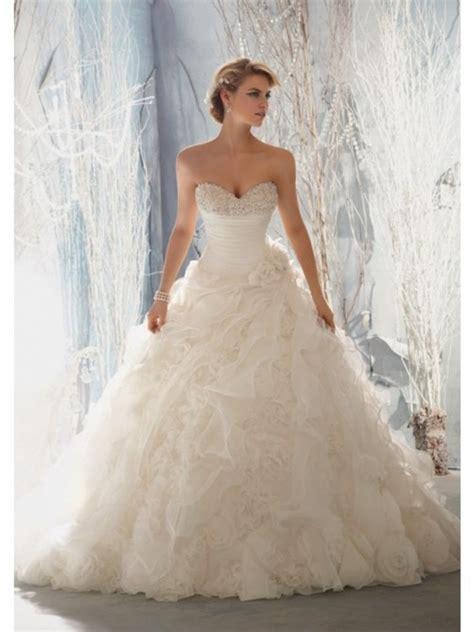 10 most beautiful wedding dresses ruffles organza