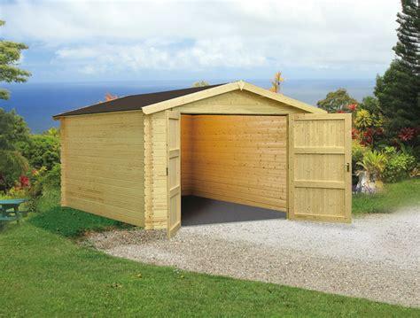 Construire Un Garage En Bois 2191 by Carport Bois Petit Prix