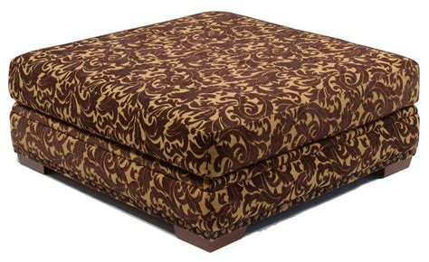 square upholstered ottoman coffee table with wooden legs