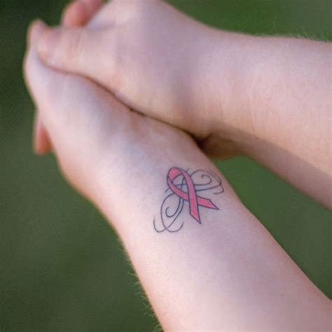 small cancer tattoos image result for pink ribbon