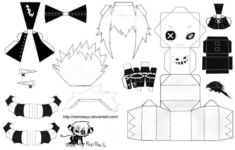 Black And White Papercraft - papercraft by ranmaoyu on deviantart