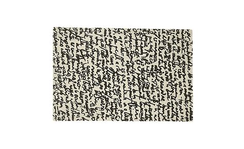 Modern Black And White Rug by Black And White Collection Manuscrit Rug Hivemodern