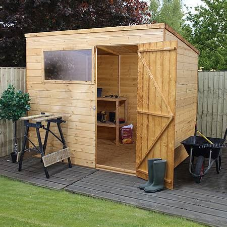 8 x 6 waltons tongue and groove pent wooden shed waltons