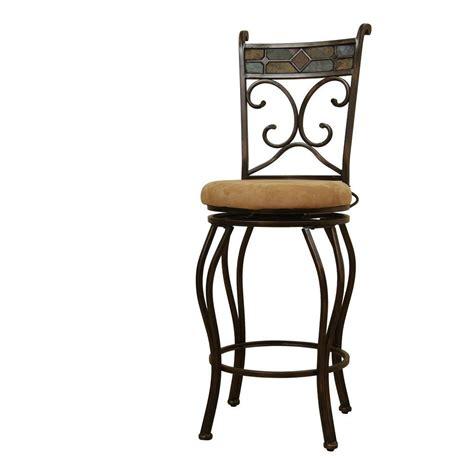 cushioned bar stool boraam beau 24 in black bronze swivel cushioned bar stool 80416 the home depot