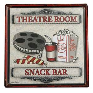 Home Decor Signs And Plaques Metal Tin Signtheater Snack Bar Tin Sign Vintage Metal