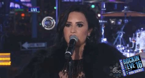 new year gifs 2016 demi lovato gif by new year s rockin find