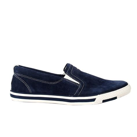 Shoe Loafer Fashion Armani B15 armani shoes loafer boat suede in blue for lyst