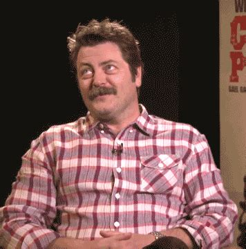 happy gif nick offerman lol gif find on giphy