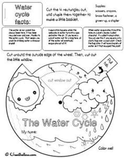 water cycle placemat science water cycle worksheet for preschoolers printable water cycle placemat or poster the u s