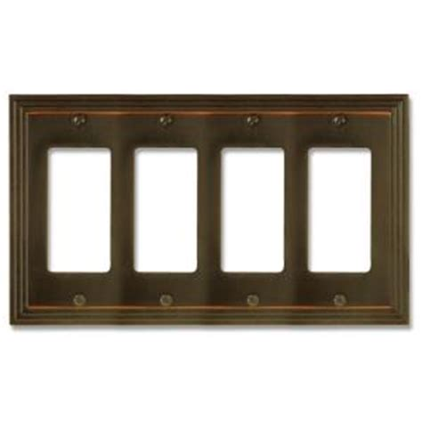 4 decorator wall plate hton bay steps 4 decorator wall plate aged bronze
