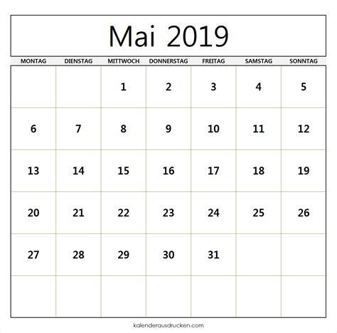 kalender mai  kalender zum ausdrucken