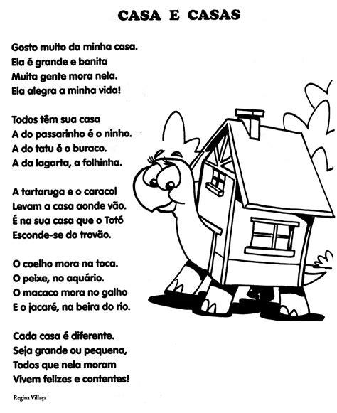 la casa poeta cantinho das atividades poema quot casa e casas quot
