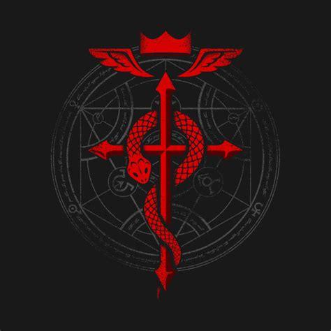 Kaos Fullmetal Alchemist Logo 1 fullmetal alchemist flamel fullmetal alchemist t shirt