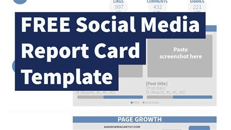 Free Social Media Report Card Template Photoshop Psd Youtube Social Media Report Card Template