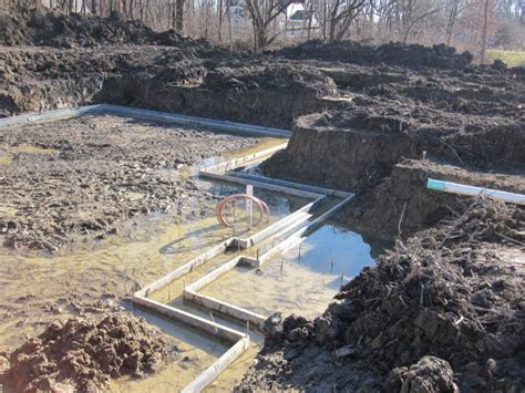Floor Plan Ideas For Building A House by House Foundation Excavation Dealing With High Water