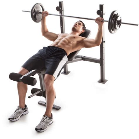 benching exercise 100 lb weight set and bench gold gym weights lifting