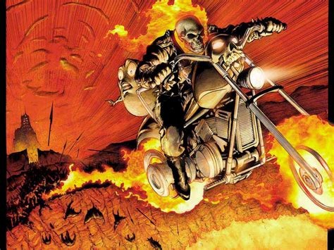 Ghost Rider Bike Live Wallpaper by My Free Wallpapers Comics Wallpaper Ghost Rider