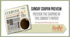 sunday coupon inserts preview living rich  coupons