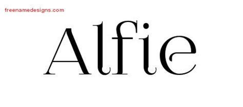 alfie tattoo designs alfie archives free name designs