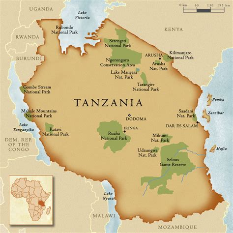 map of tanzania tanzania authentic east africa