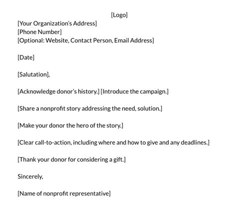 giving donation letter template how to write the donation letter exles