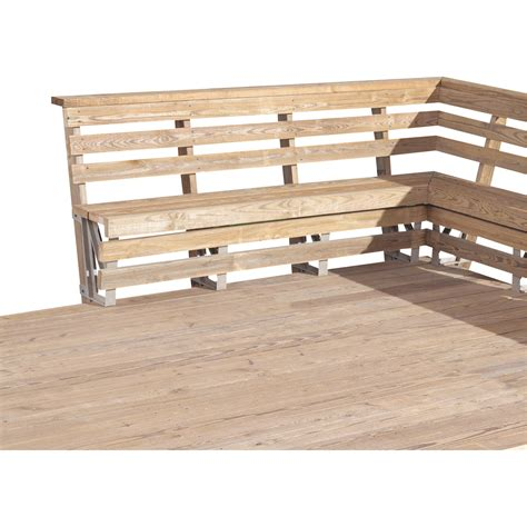 bench for balcony 2x4 basics deck bench brackets sand 2 pk model 90168 northern tool equipment