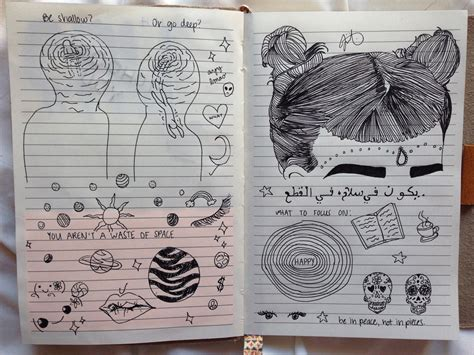 doodle draw journal kristy conlin draw grunge notebook pale image 3552501 by
