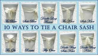 Traditional bow plus 9 alternative ways to tie a chair sash